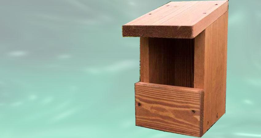 Costruire una cassetta nido aperta per uccelli selvatici