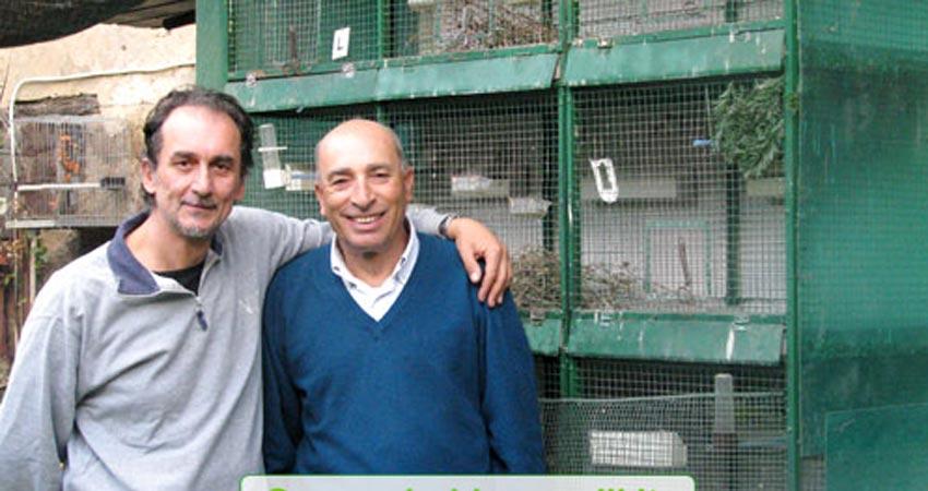 Visita all'allevamento di cardellini di Biagio D'Amore e Stefano Esposito